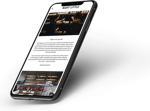 Cafe mobile website