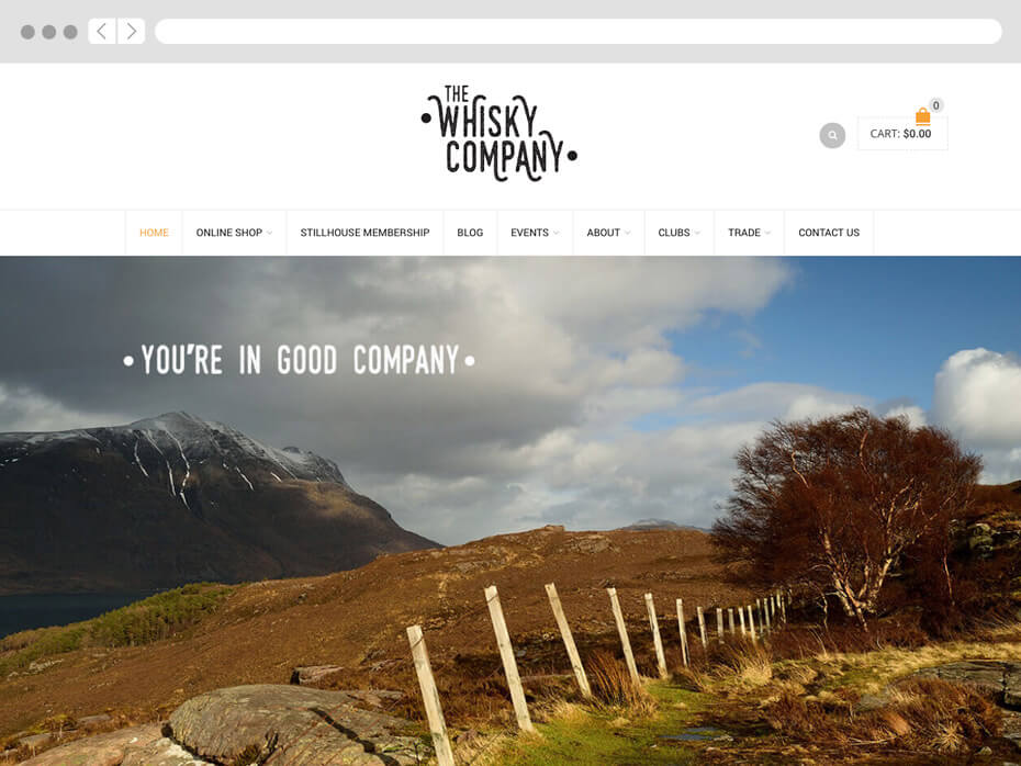 The Whisky Company web designer